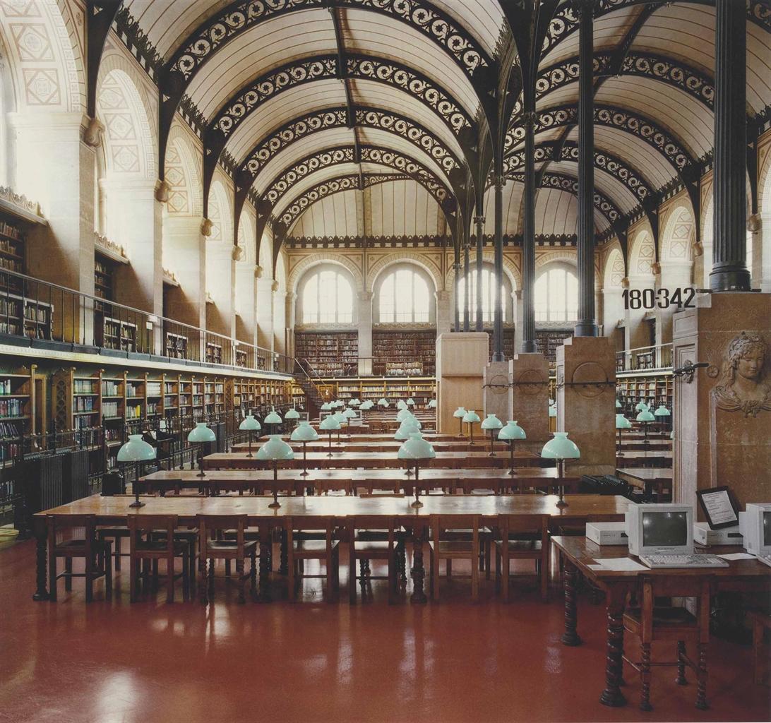 Candida Hofer-Bibliotheque Sainte-Genevieve Paris I-1997