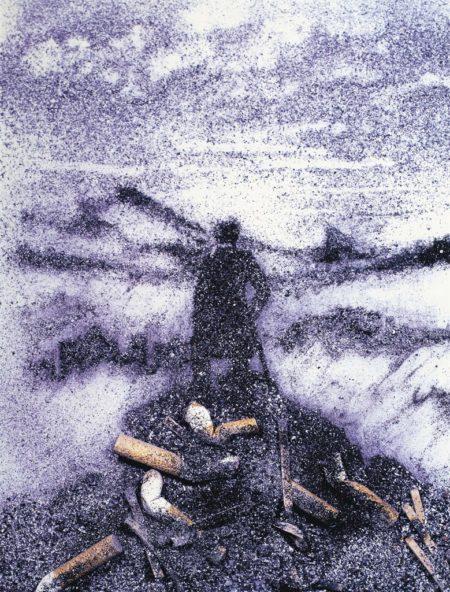 Vik Muniz-Wanderer Above the Sea of Ashes, after Caspar David Friedrich-1999