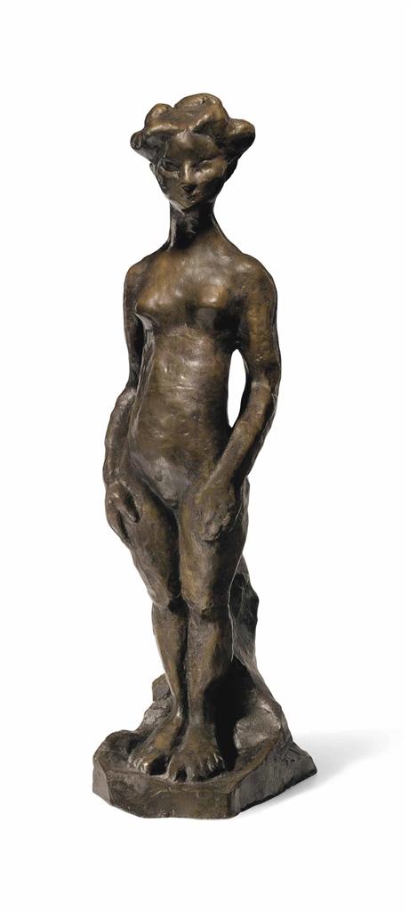 Henri Matisse-Fillette debout, bras le long du corps-1908