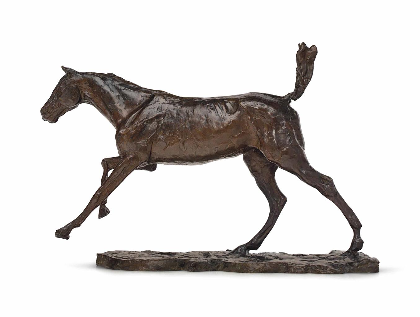 Edgar Degas-Cheval au galop sur le pied droit-1889