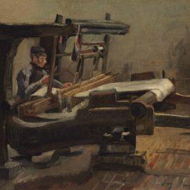 Vincent van Gogh-Wever naar rechts gekeerd (Weaver Facing Right)-1884
