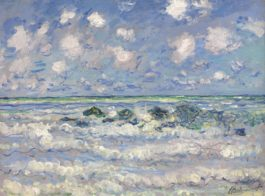 Claude Monet-La Vague-1880