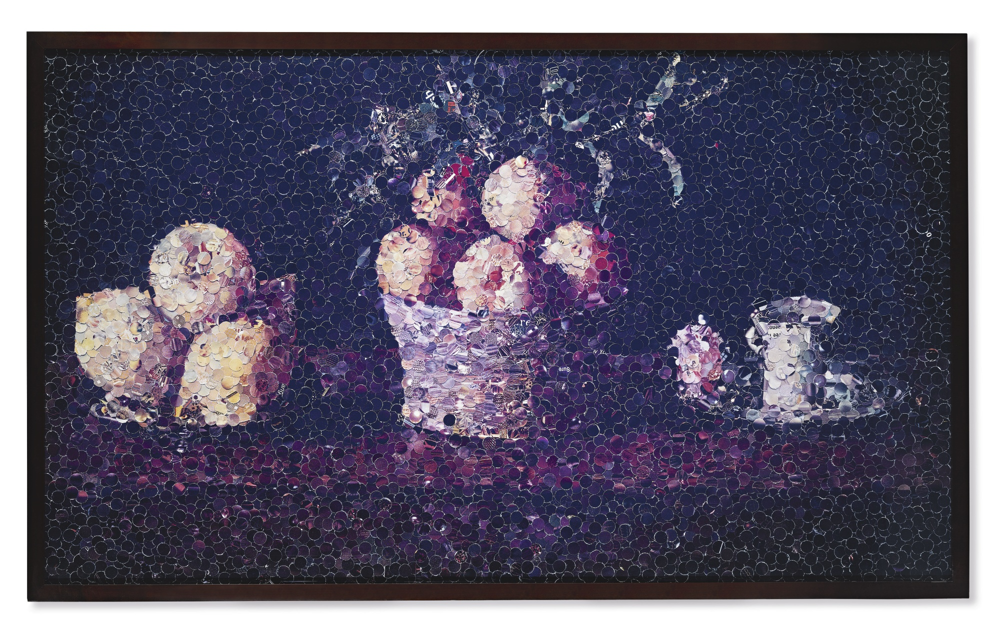 Vik Muniz-Still Life With Lemons Oranges And A Rose After Francisco Zurbaran (From Pictures Of Magazines)-2004