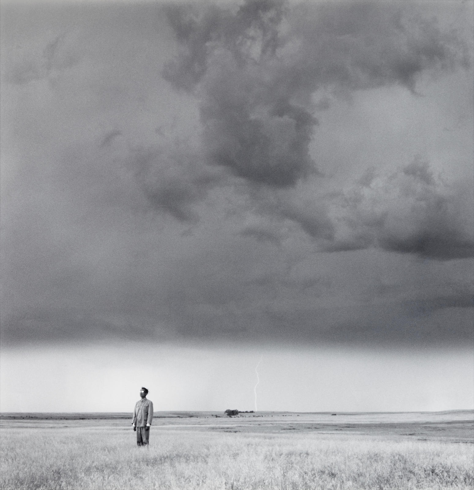 Tseng Kwong Chi-Lightning Field, South Dakota-1986