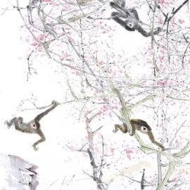 Chen Wen Hsi-Eight Gibbons-1980