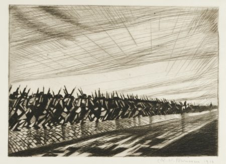 Christopher R. W. Nevinson-Column On The March-1916