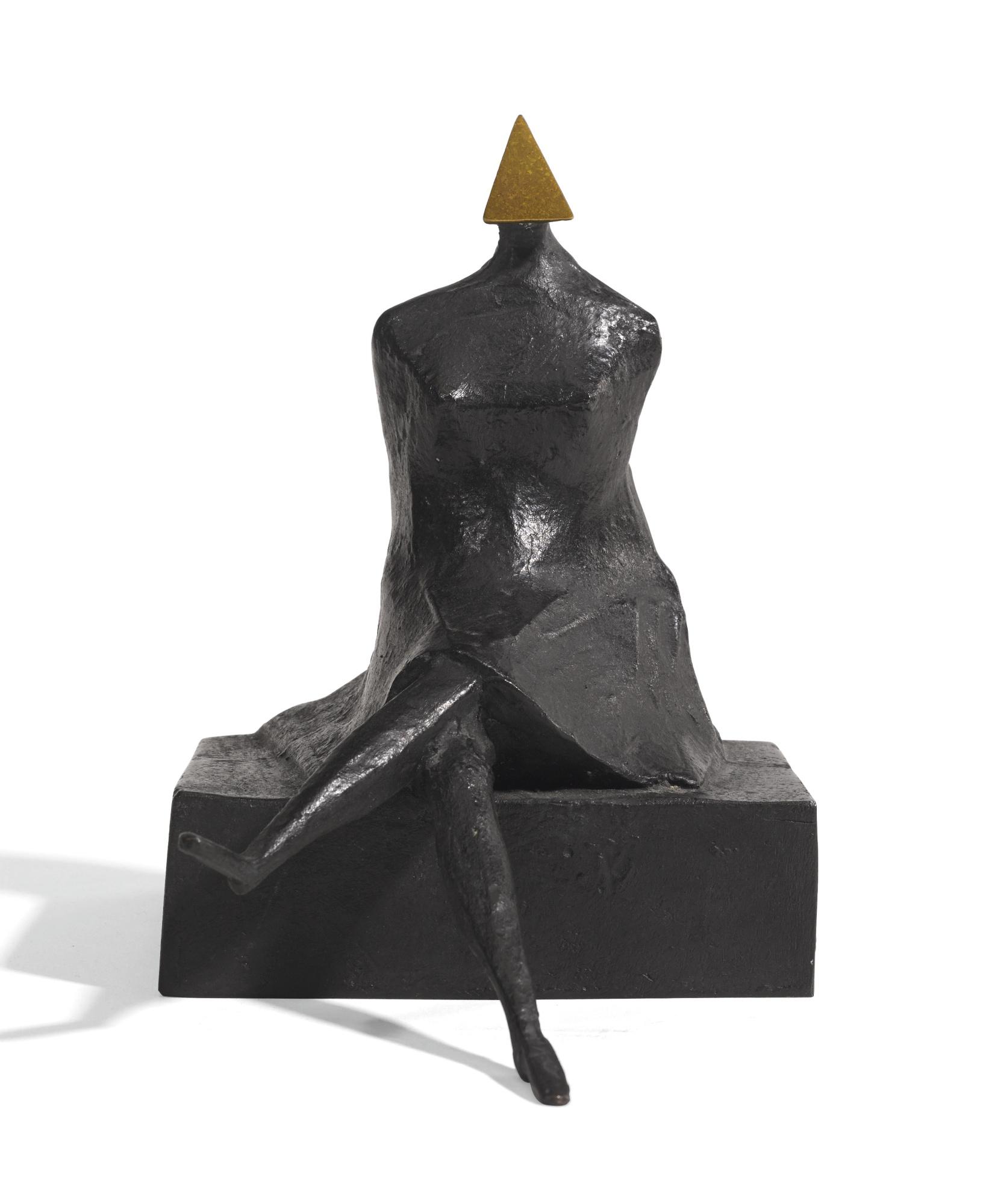 Lynn Chadwick-Maquette VII Sitting Woman-1986