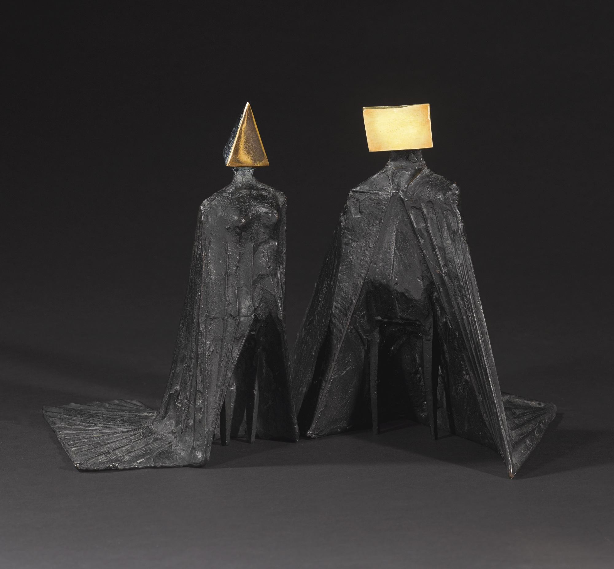 Lynn Chadwick-Pair Of Cloaked Figures-1976