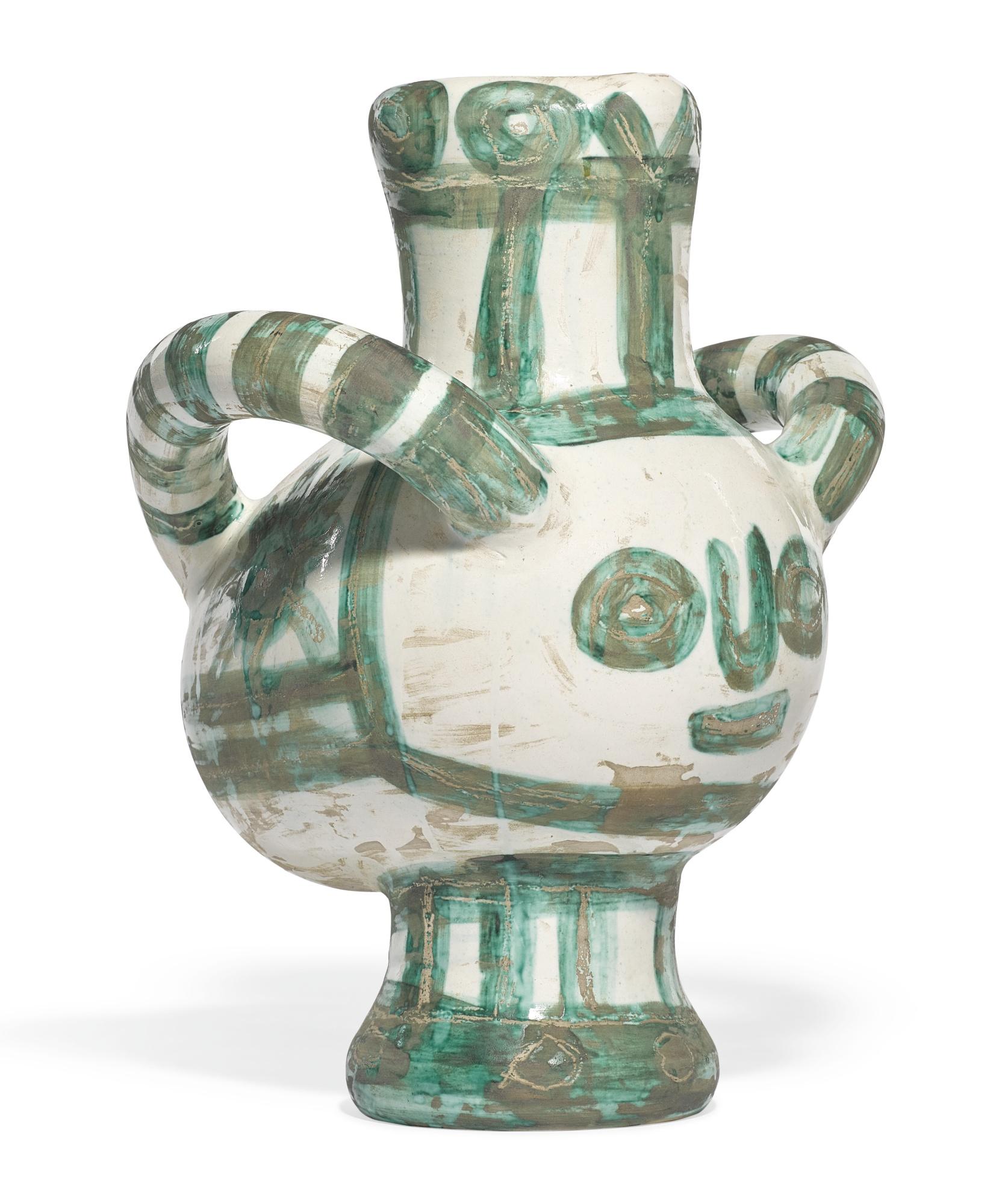 Pablo Picasso-Vase Gros Oiseau Vert (A. R. 453)-1960