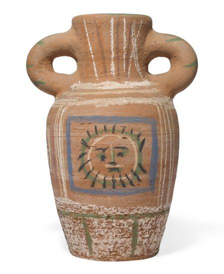 Pablo Picasso-Vase Au Decor Pastel (A. R. 190)-1953