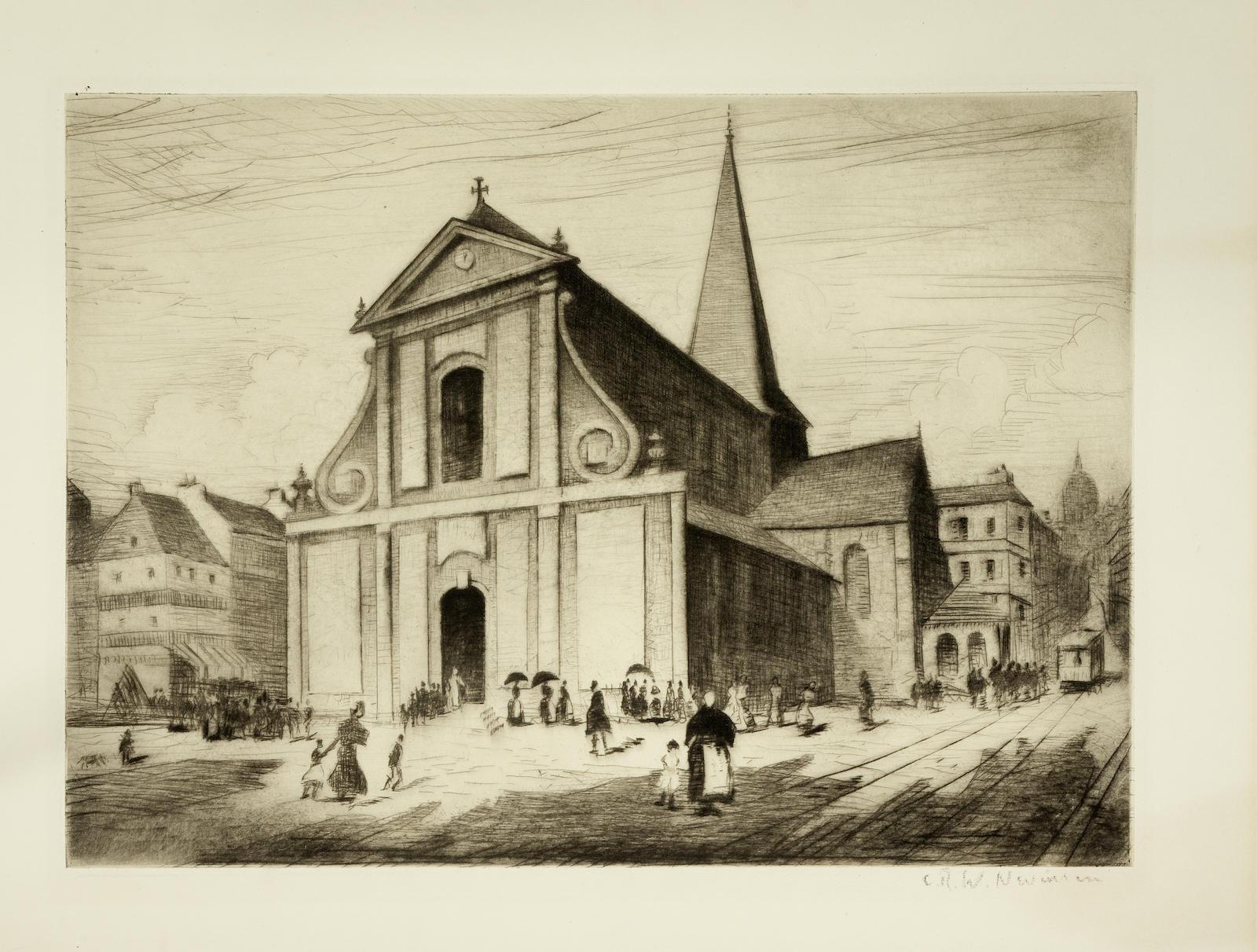 Christopher R. W. Nevinson-Boulogne (Black 73)-1920