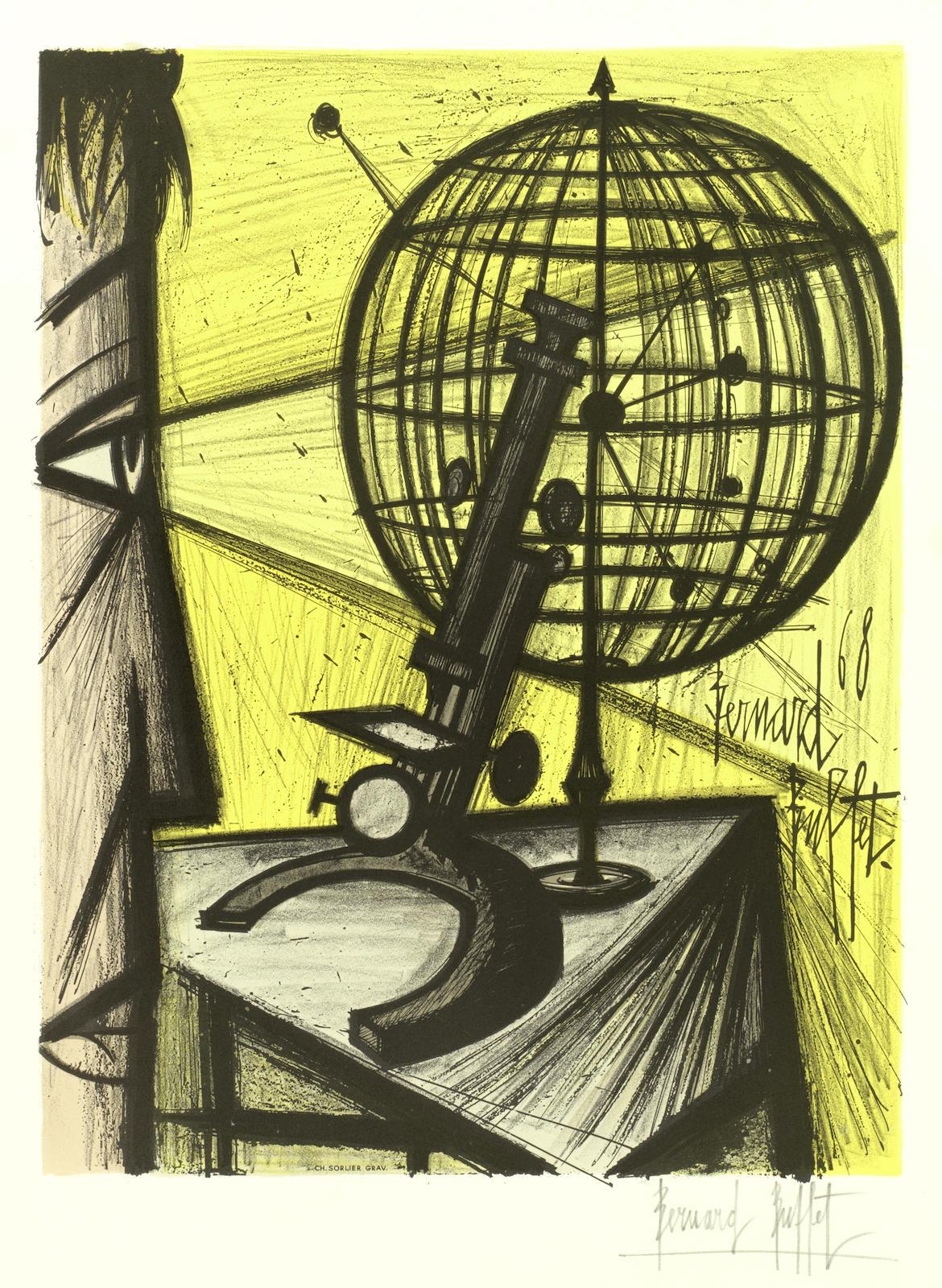 Bernard Buffet-After Bernard Buffet - Le Microscope (Sorlier 316)-1969