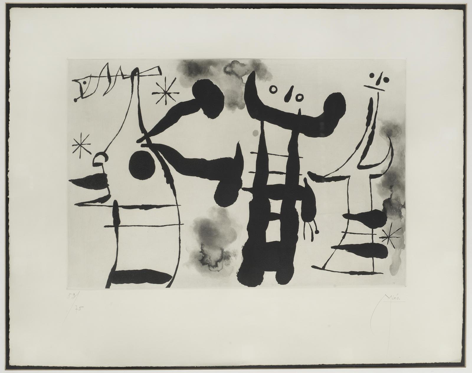 Joan Miro-Les Philosophes I (Dupin 155)-1958