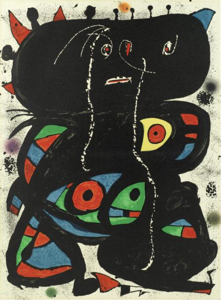 Joan Miro-Hommage aux Prix Nobel (Mourlot 1094)-1976