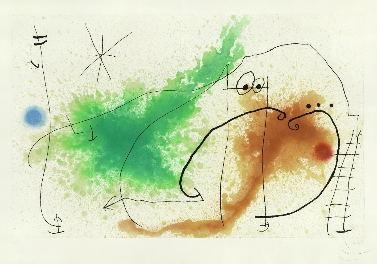 Joan Miro-Partie de Campagne IV (Dupin 433)-1967