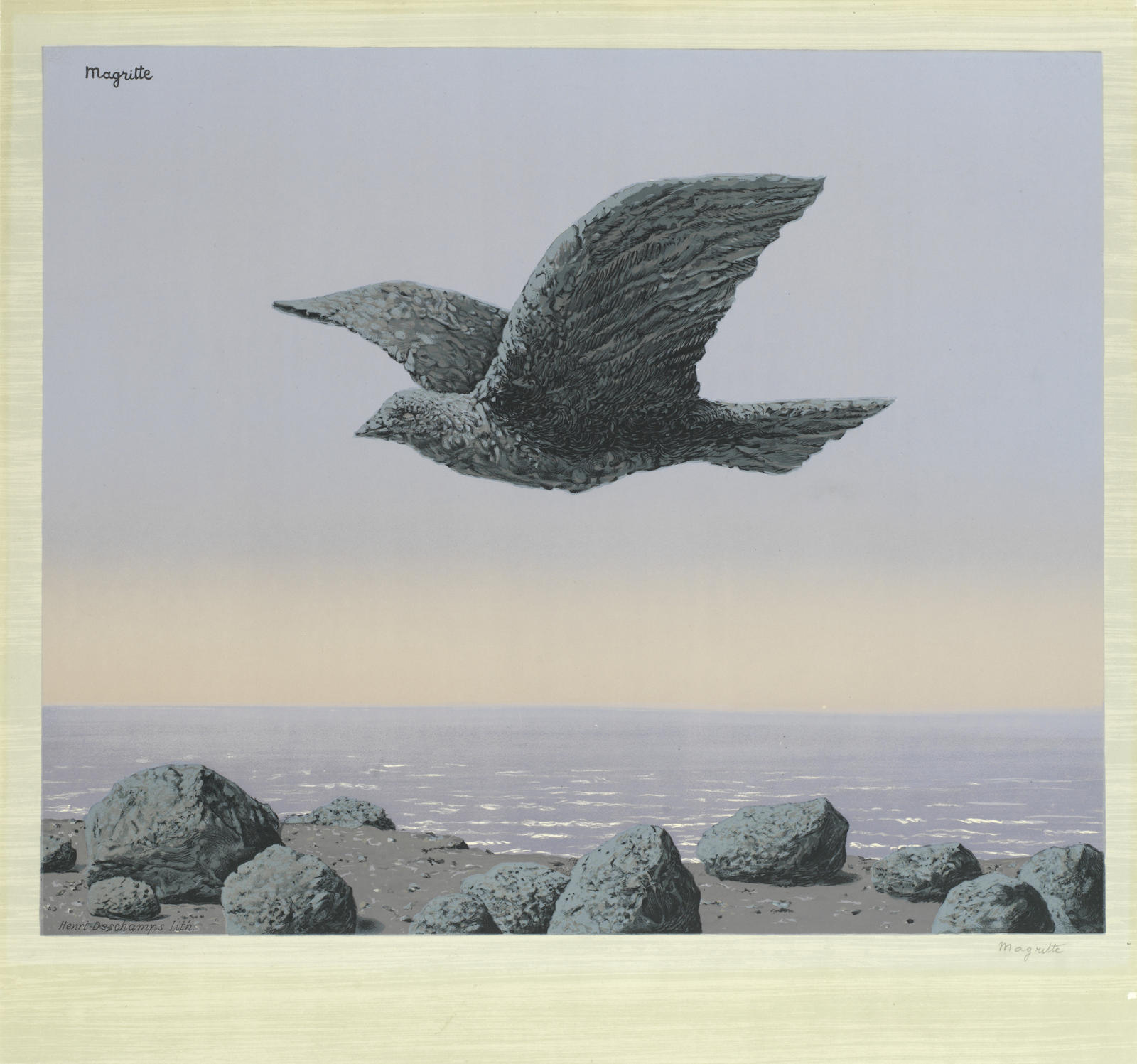 Rene Magritte-After Rene Magritte - L'Idole-1965