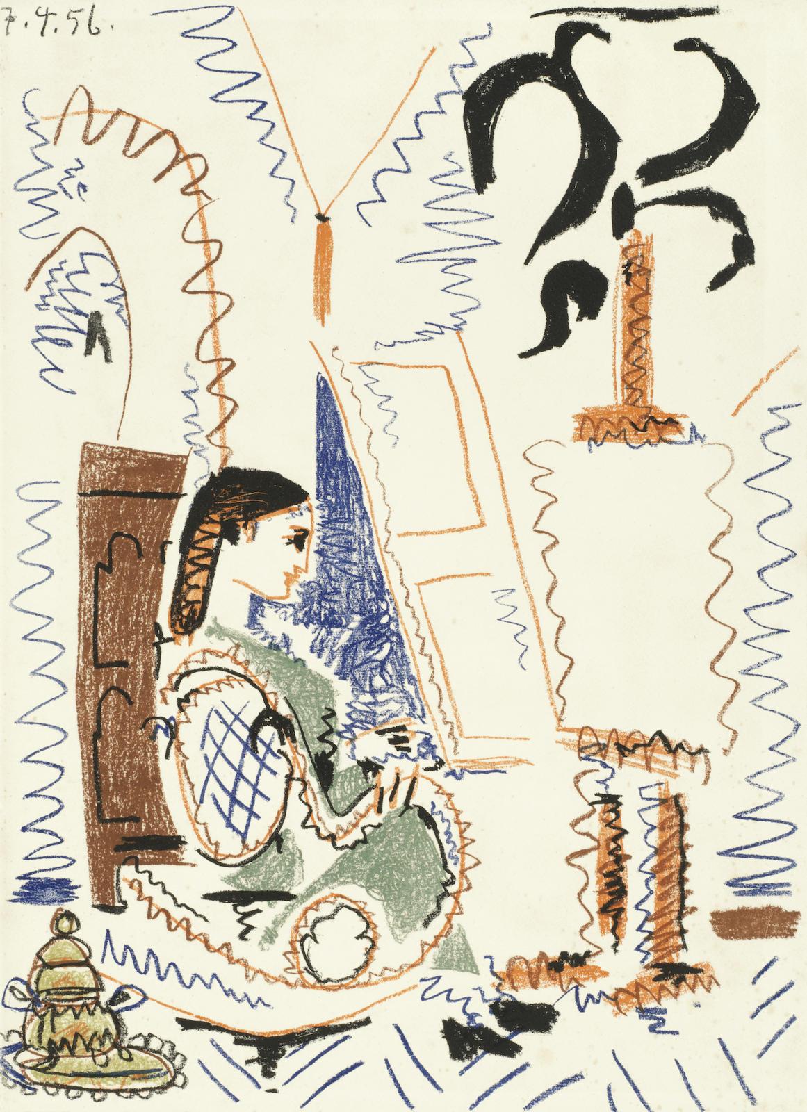 Pablo Picasso-L'Atelier de Cannes, from 'Dans l'Atelier de Picasso' (Mourlot 279; Bloch 794)-1956