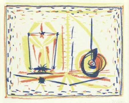 Pablo Picasso-Compostion au verre et a la pomme (Composition with Glass and Apple)-1946