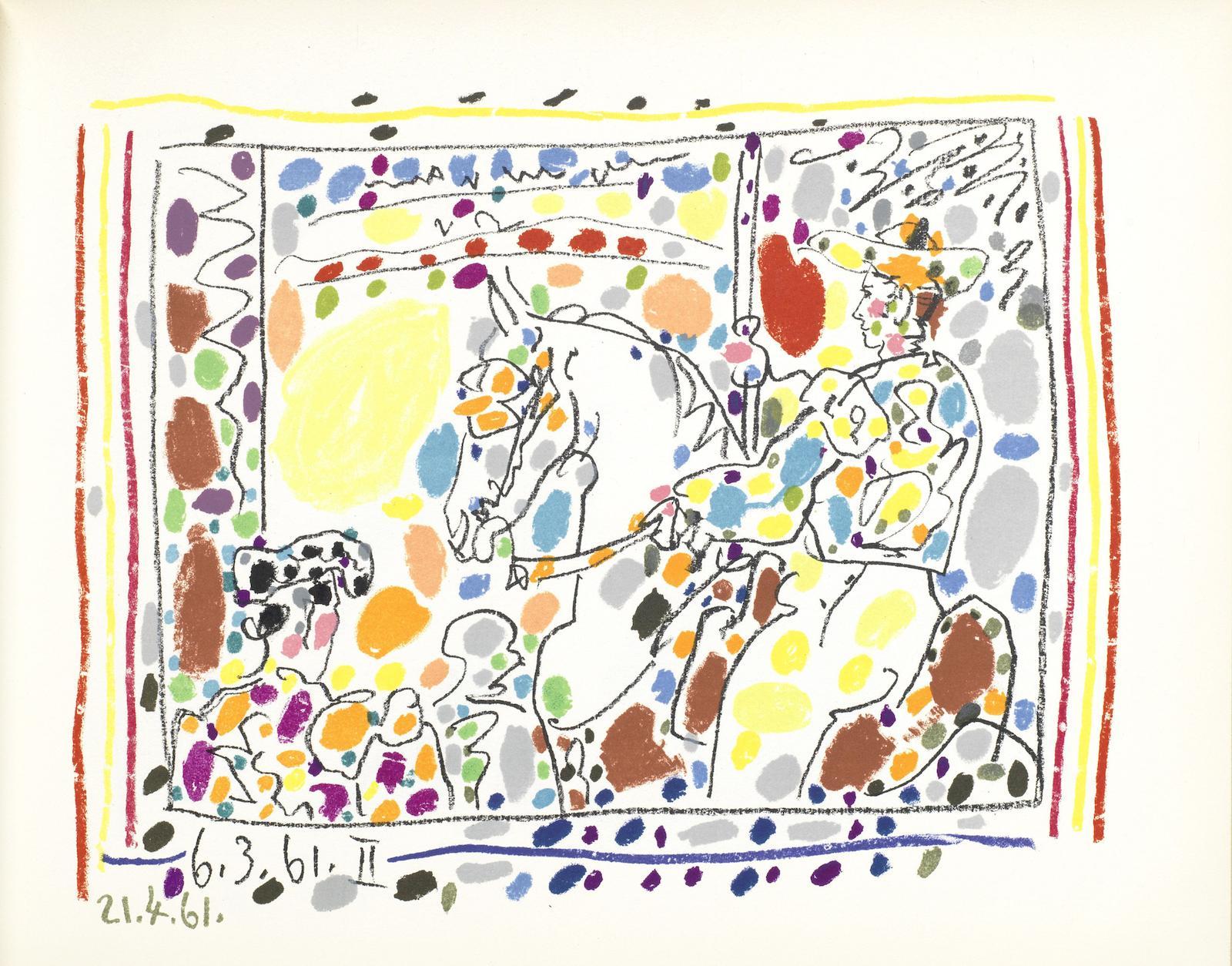 Pablo Picasso-Toreros (Bloch 1014-1017; Cramer Books 113)-1961