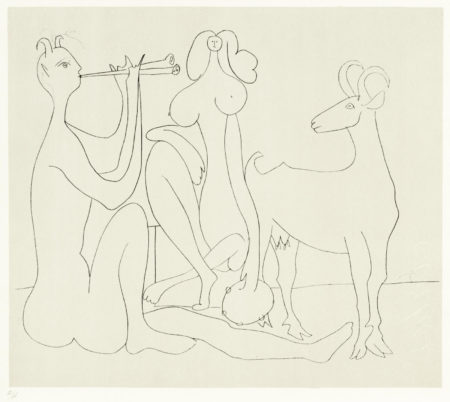 Pablo Picasso-After Pablo Picasso - One Plate from 'Mes dessins d'Antibes'-1958
