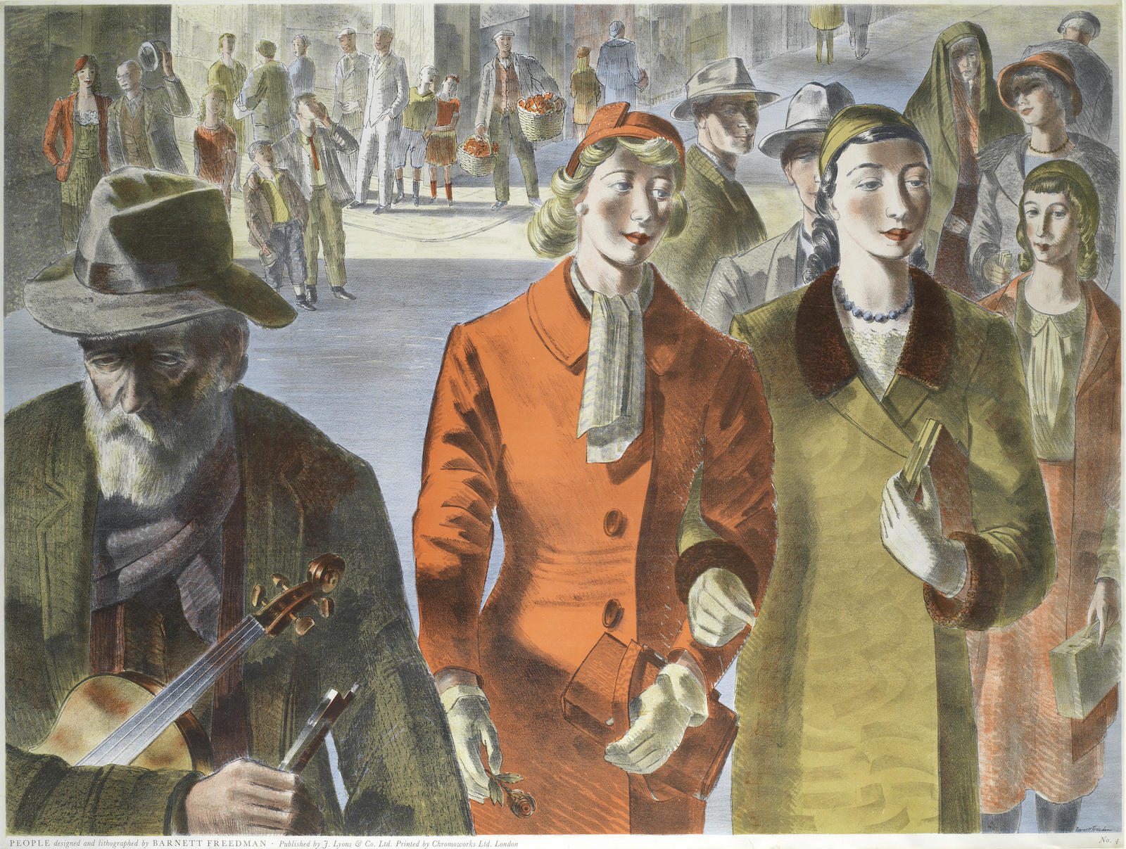 Barnett Freedman-People-1947