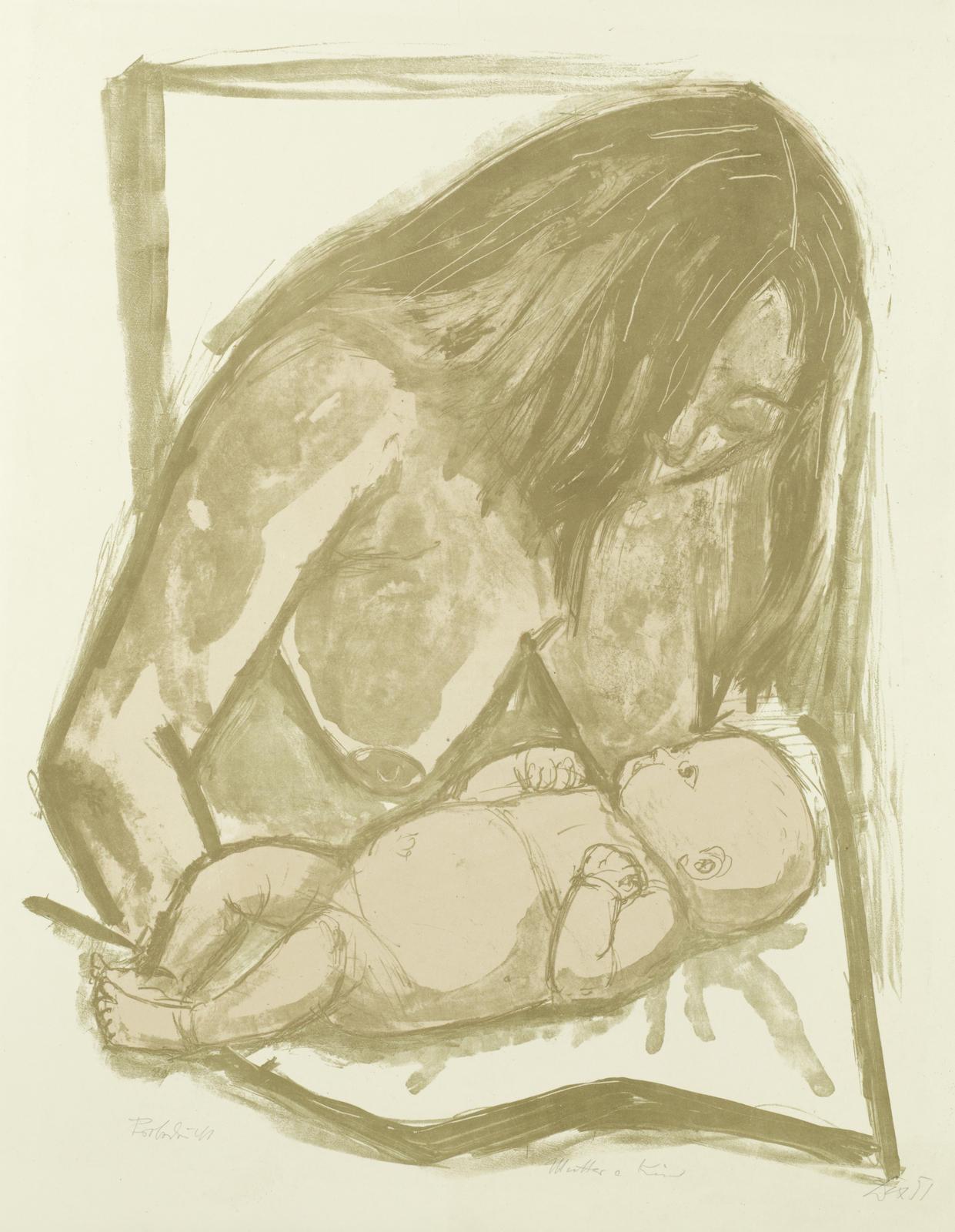 Otto Dix-Mutter und Kind (Karsch 193 b)-1951