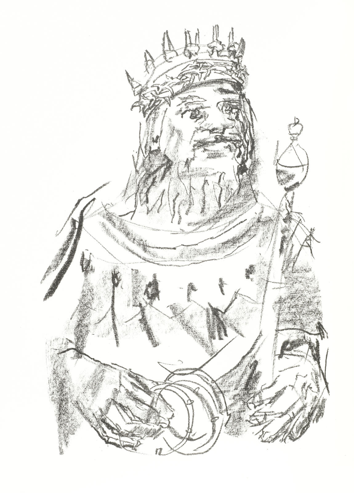 Oskar Kokoschka-King Lear (Wingler & Weltz 223-238)-1963