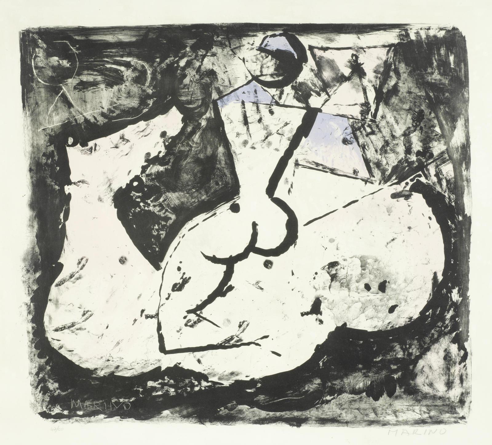Marino Marini-Cavallo e Cavaliere (Guastalla L89)-1965