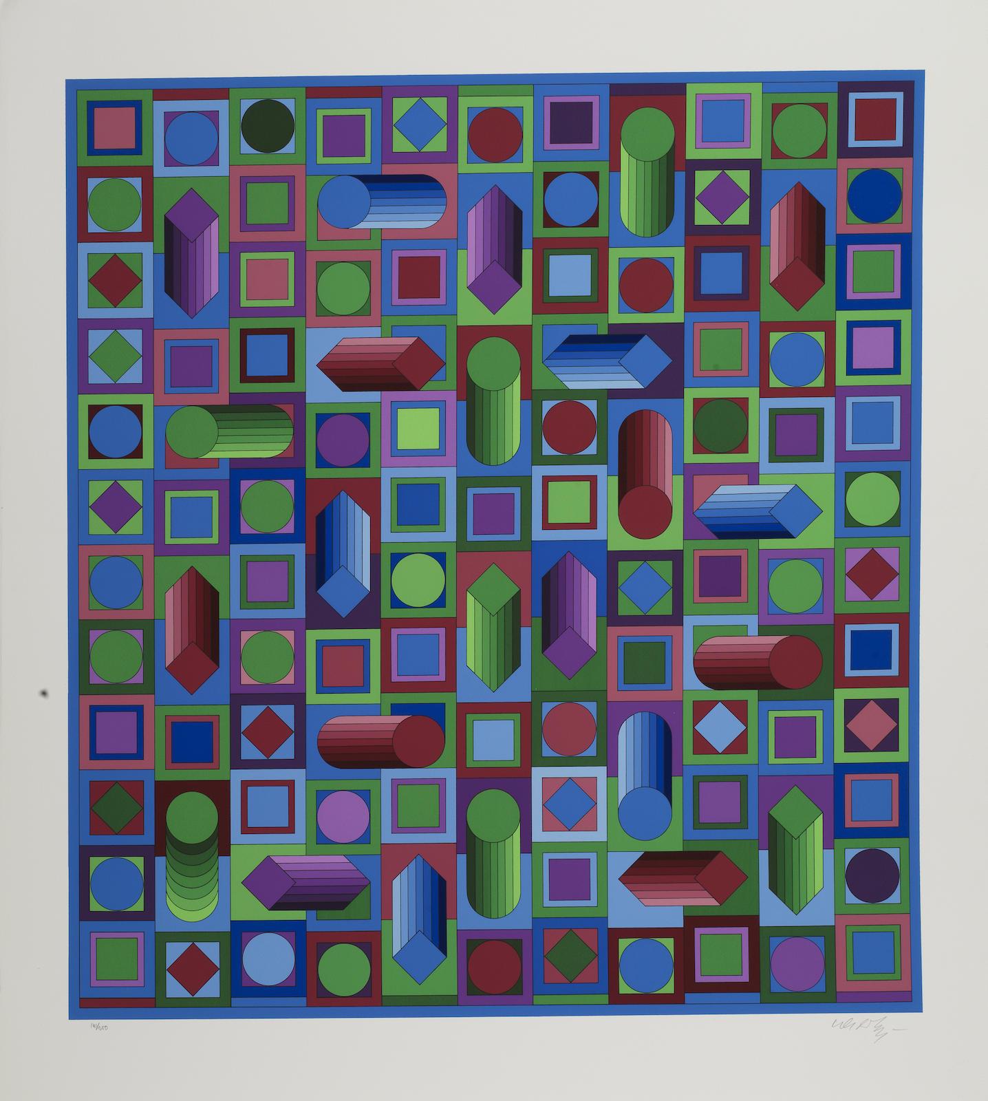 Victor Vasarely-Hyram; Terz-1979