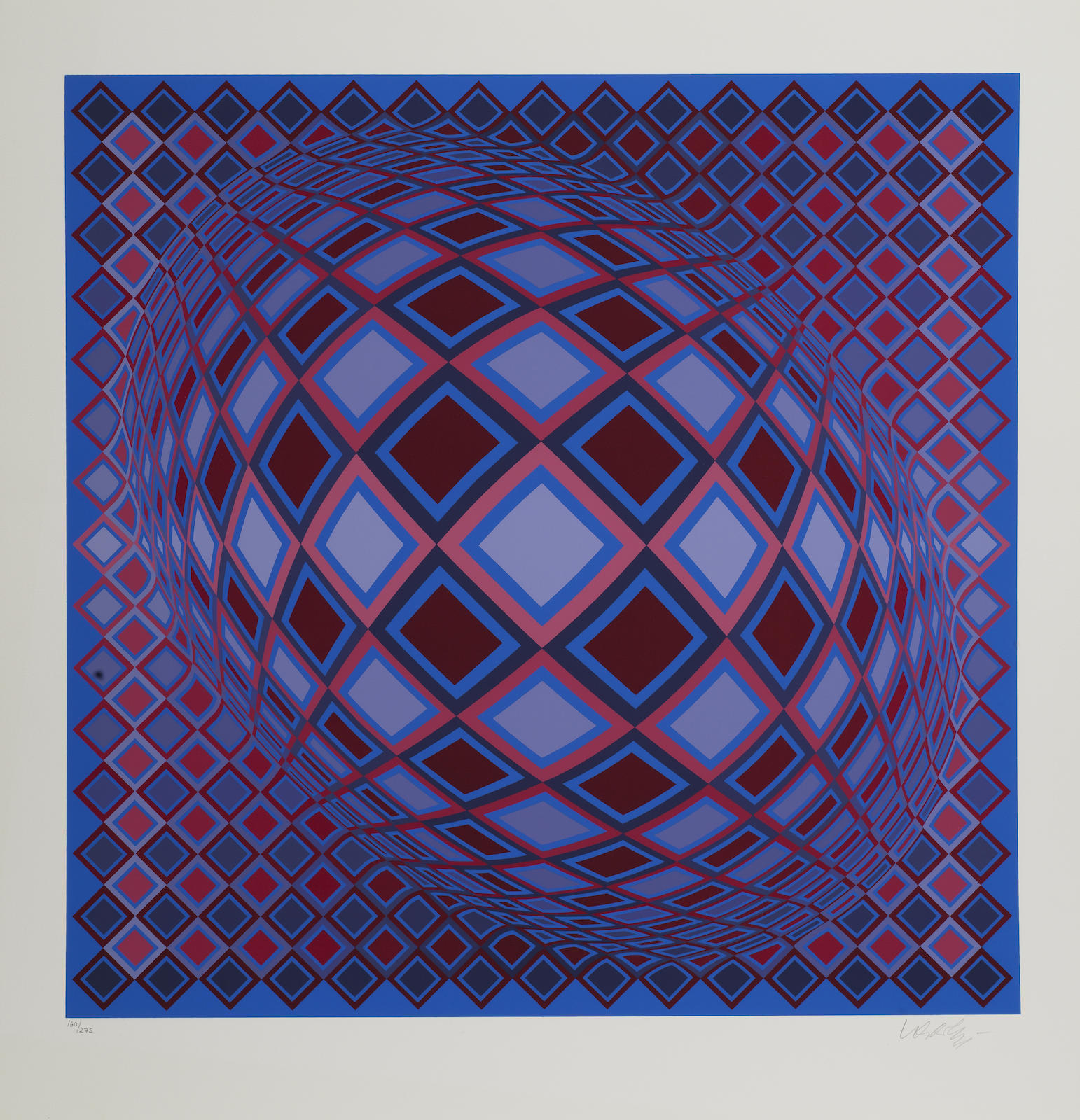 Victor Vasarely-Basel; Terz-1983