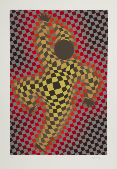 Victor Vasarely-Harlequin, from 'Figurative'; Clown with Ball-1987