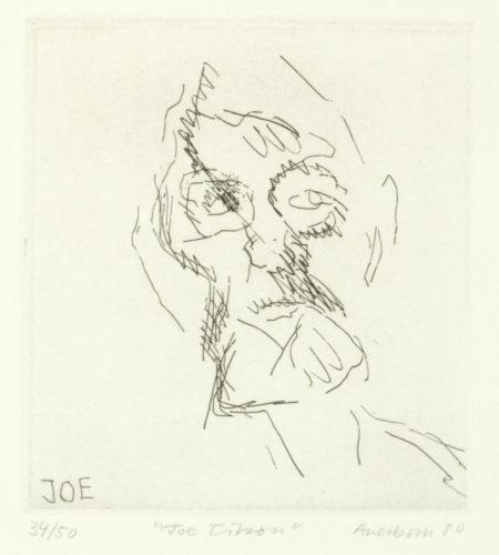 Frank Auerbach-Joe Tilson, from 'Six Etchings of Heads' (Marlborough Graphics 9)-1980