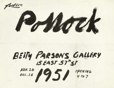 Jackson Pollock-Untitled (Betty Parsons Gallery Announcement)-1951