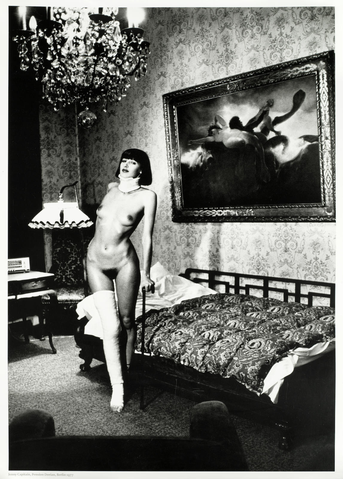 Helmut Newton-After Helmut Newton - Jenny Kapitan, Pension Dorian, Berlin-1977