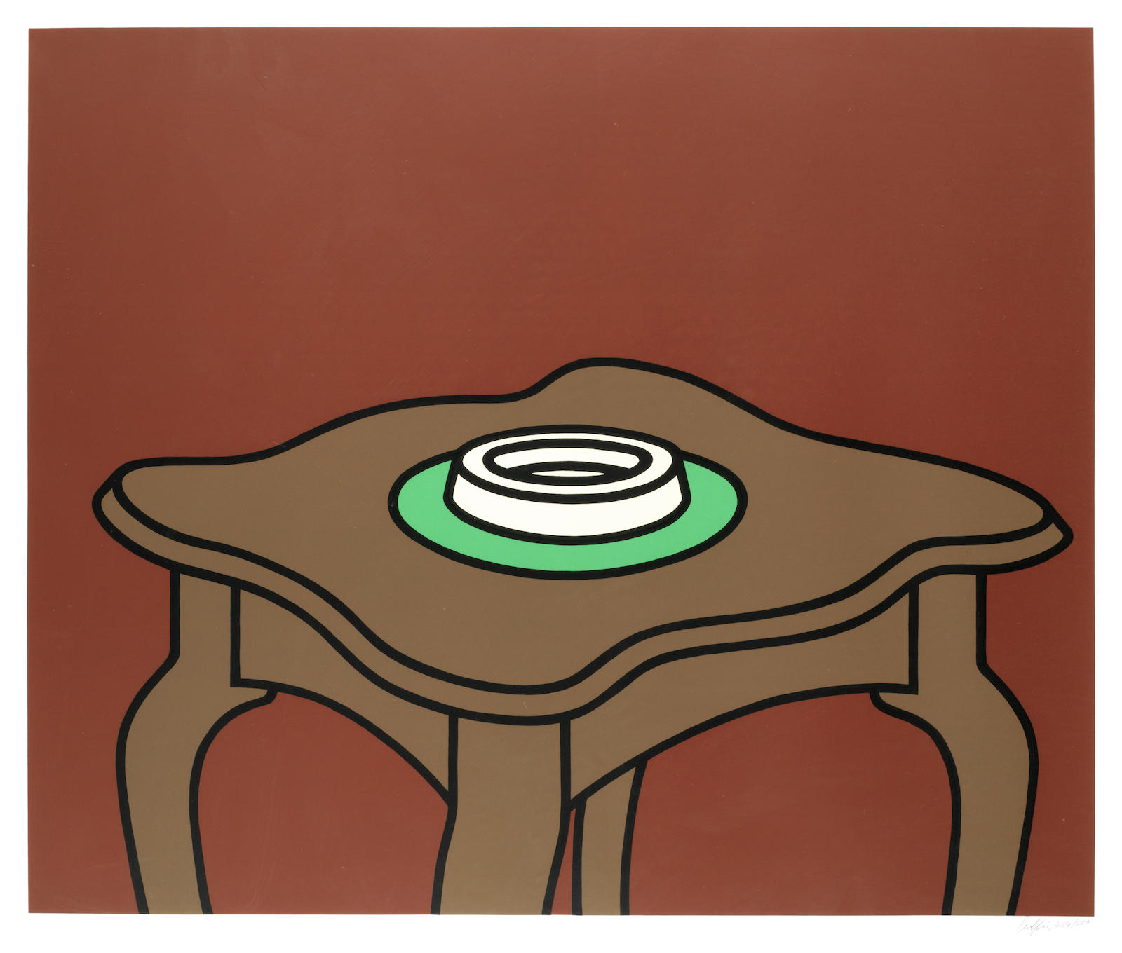 Patrick Caulfield-Occasional Table (Cristea 29)-1972