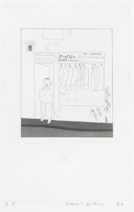 David Hockney-To remain, from 'Illustrations for Fourteen Poems from C.P. Cavafy' (Scottish Art Council 50)-1966