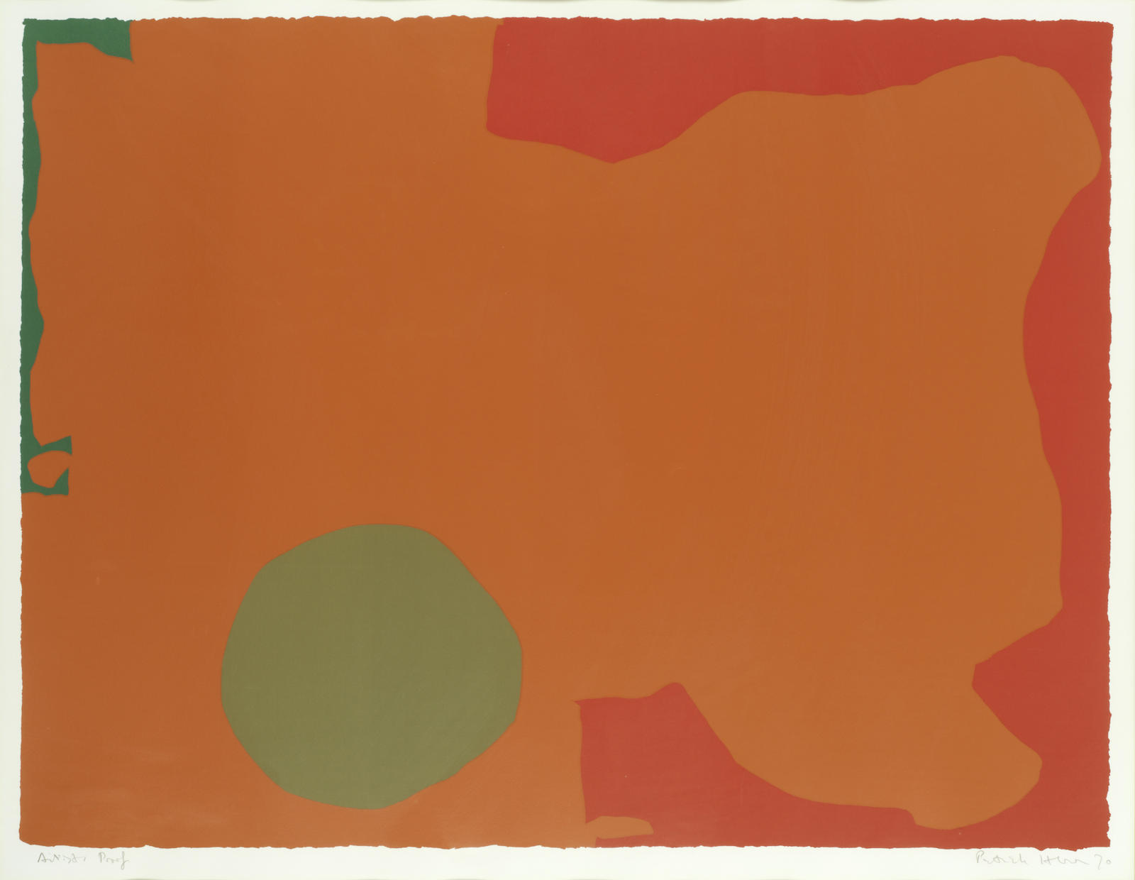 Patrick Heron-Umber Disc and Red Edge-1970