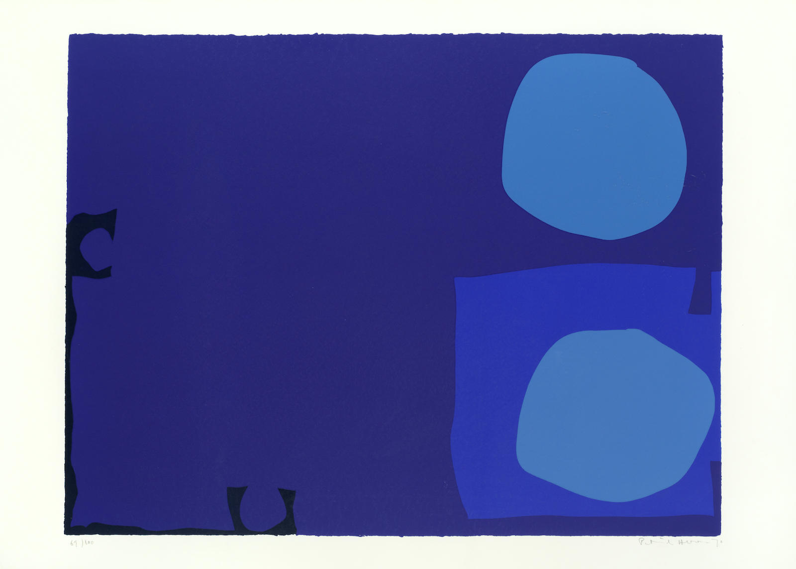 Patrick Heron-Four Blues, Two Discs-1970