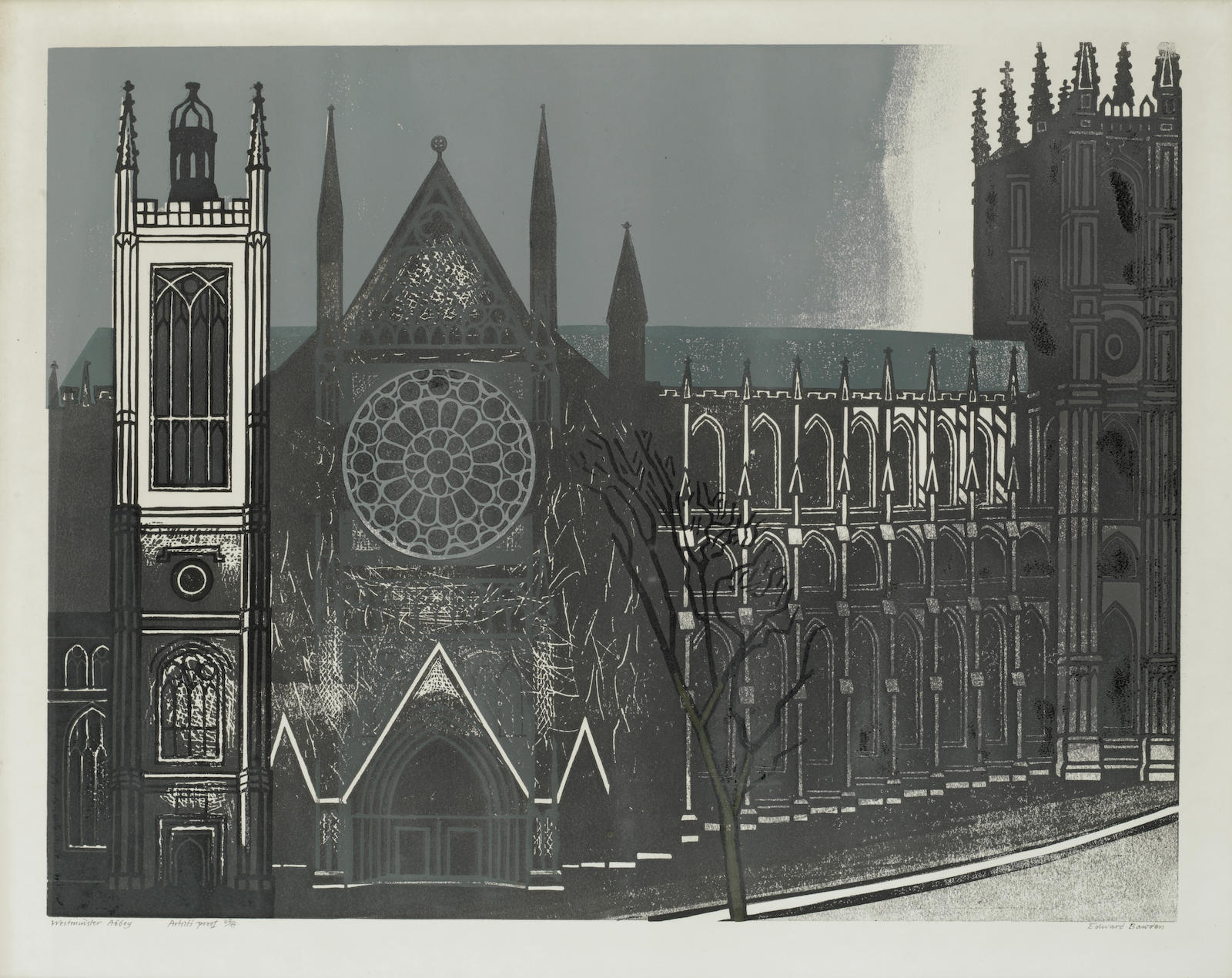 Edward Bawden-Westminster Abbey (MG. 67)-1966