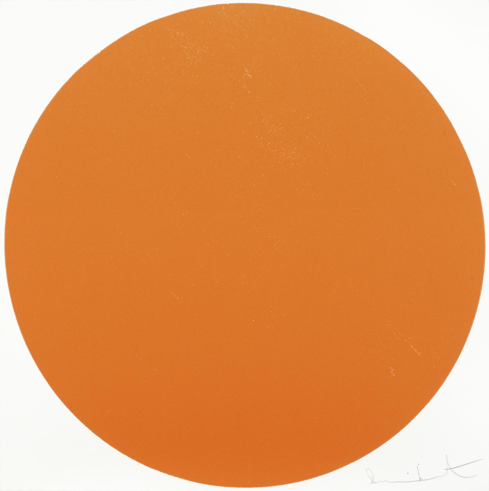 Damien Hirst-Meparticin Orange-2012