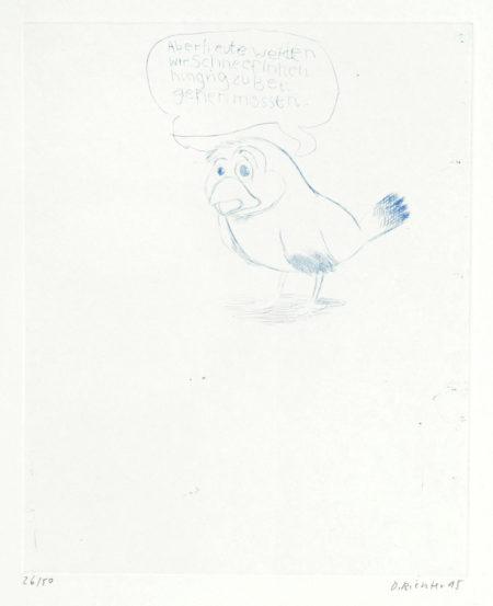 Daniel Richter-Little Doggy, from 'The Stutz Mappe Portfolio'-1995