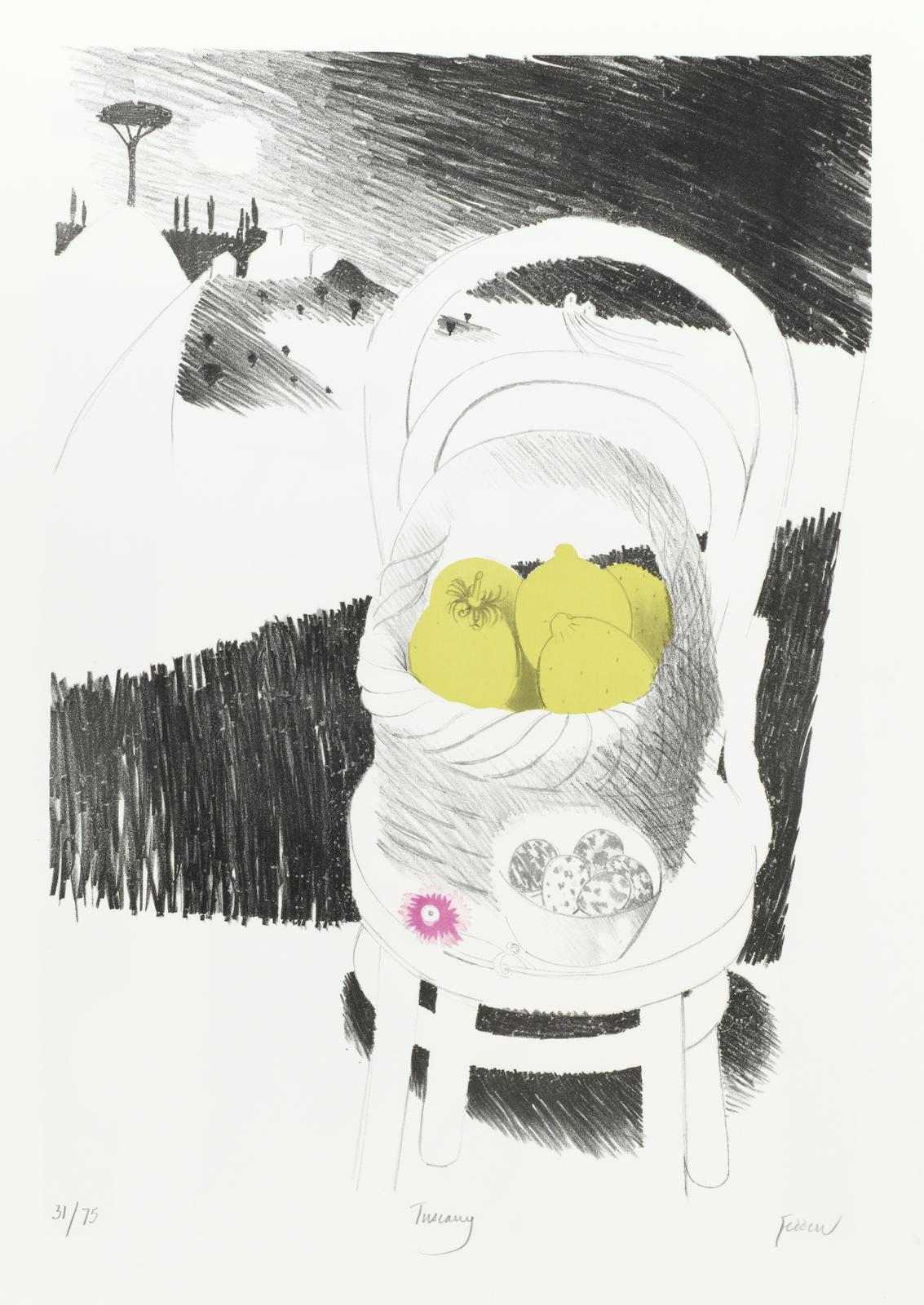 Mary Fedden-Tuscany; Lamplight-1973