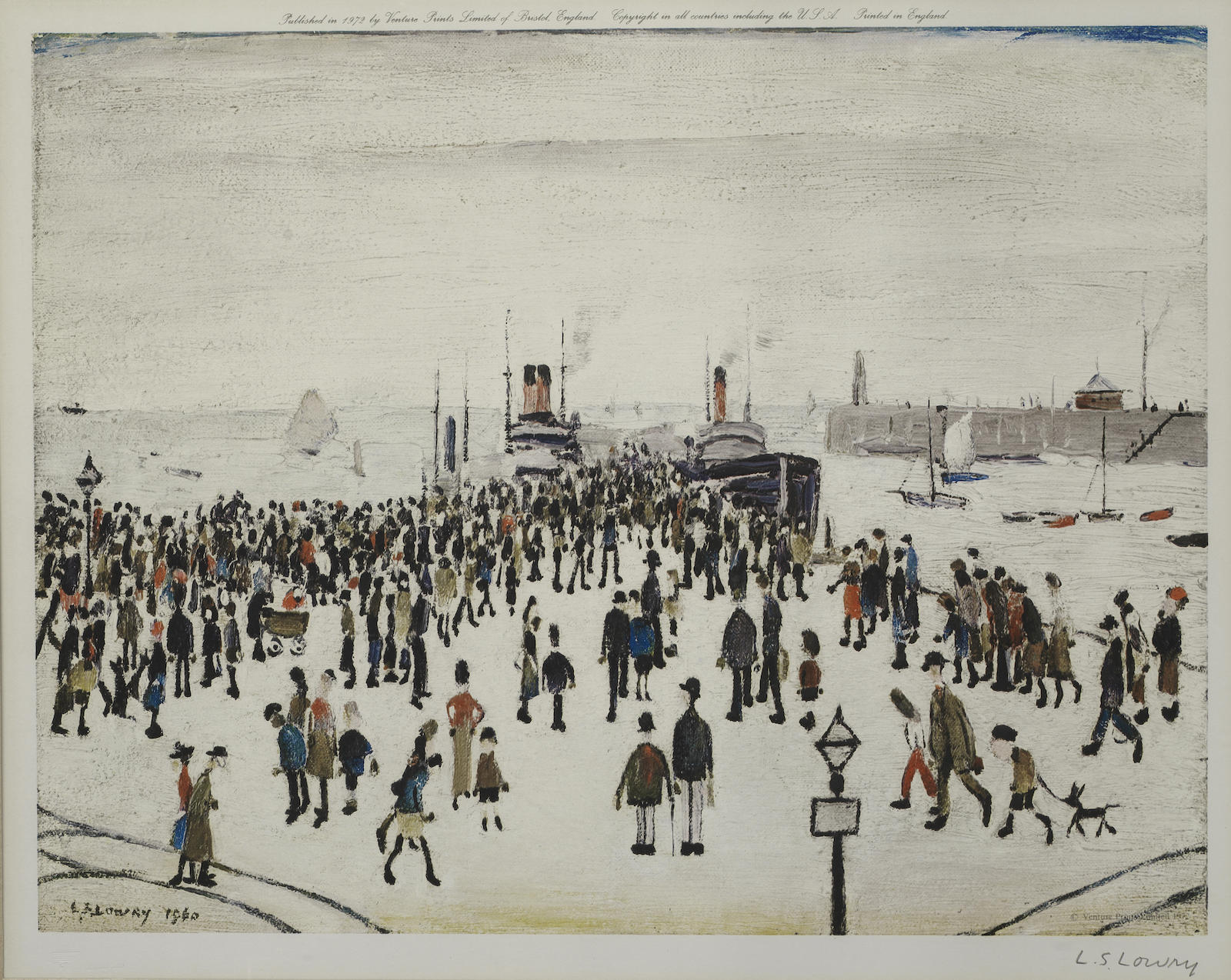 Laurence Stephen Lowry-The Ferry Boats-1972