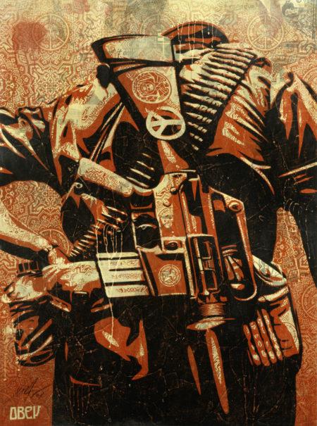 Shepard Fairey-Duality of Humanity #3-2008