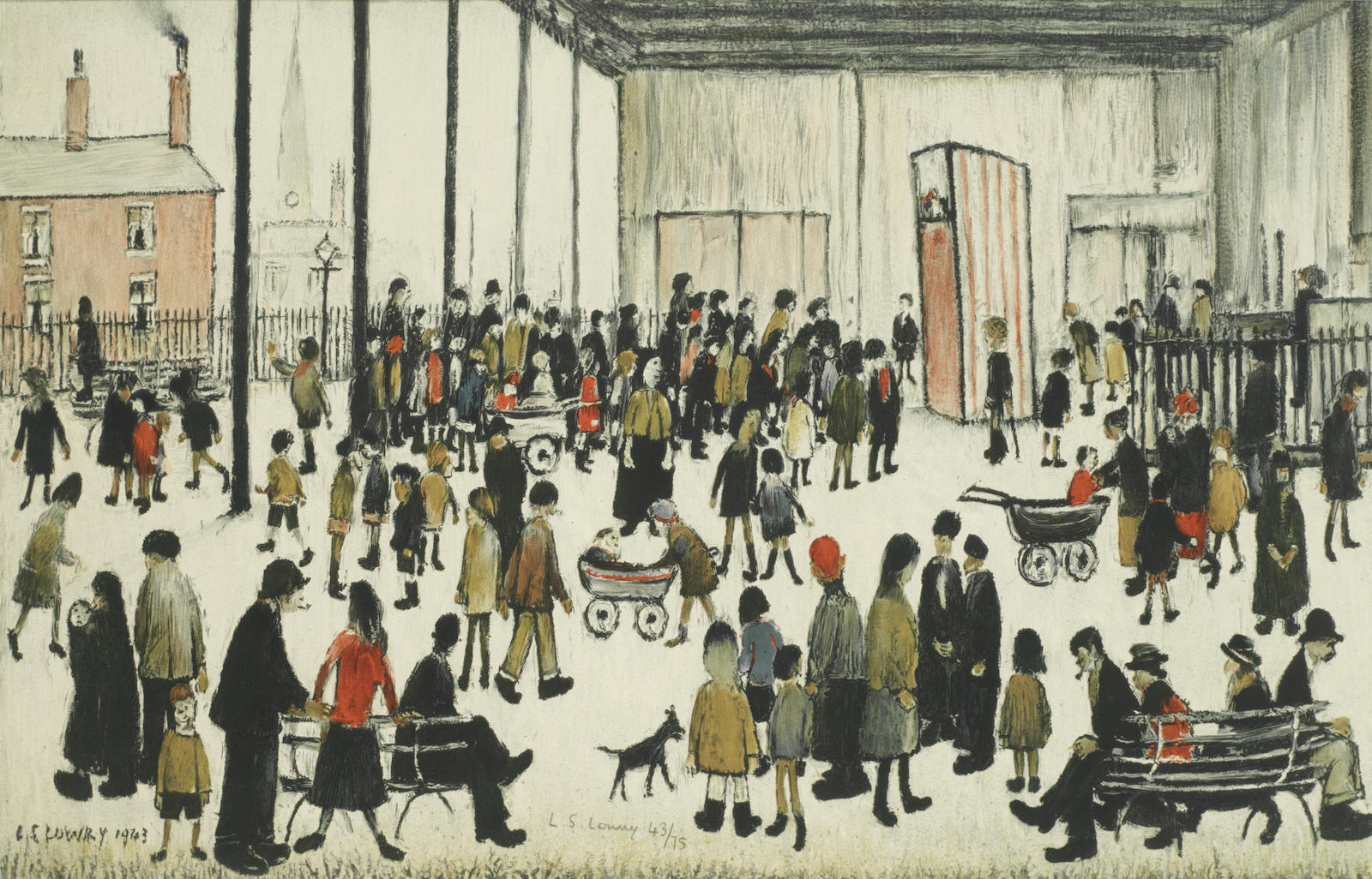 Laurence Stephen Lowry-Punch and Judy-