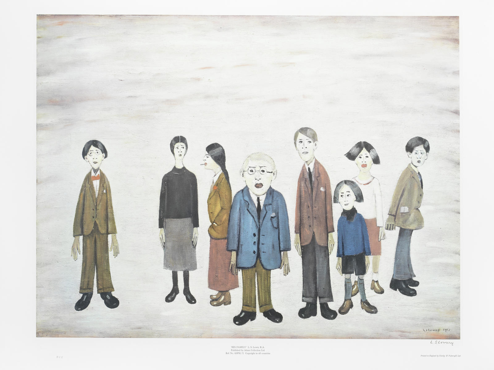 Laurence Stephen Lowry-His Family-