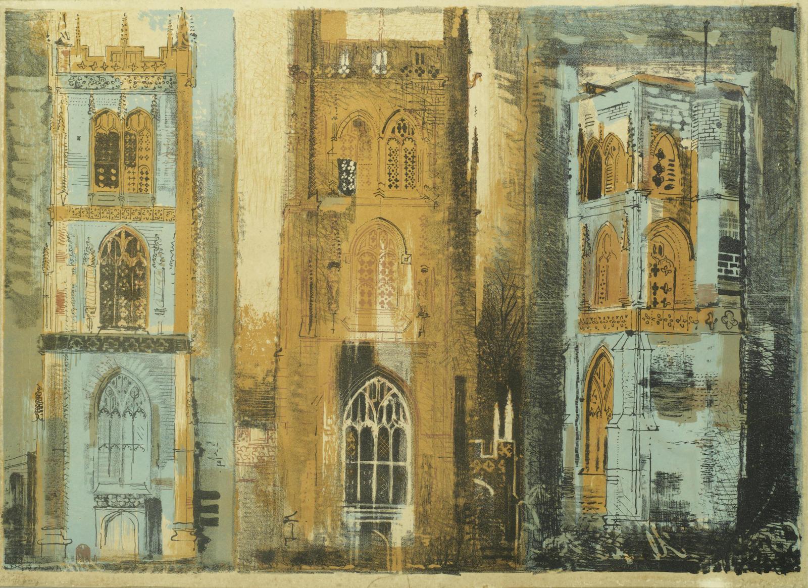 John Piper-Three Somerset Towers II-1958