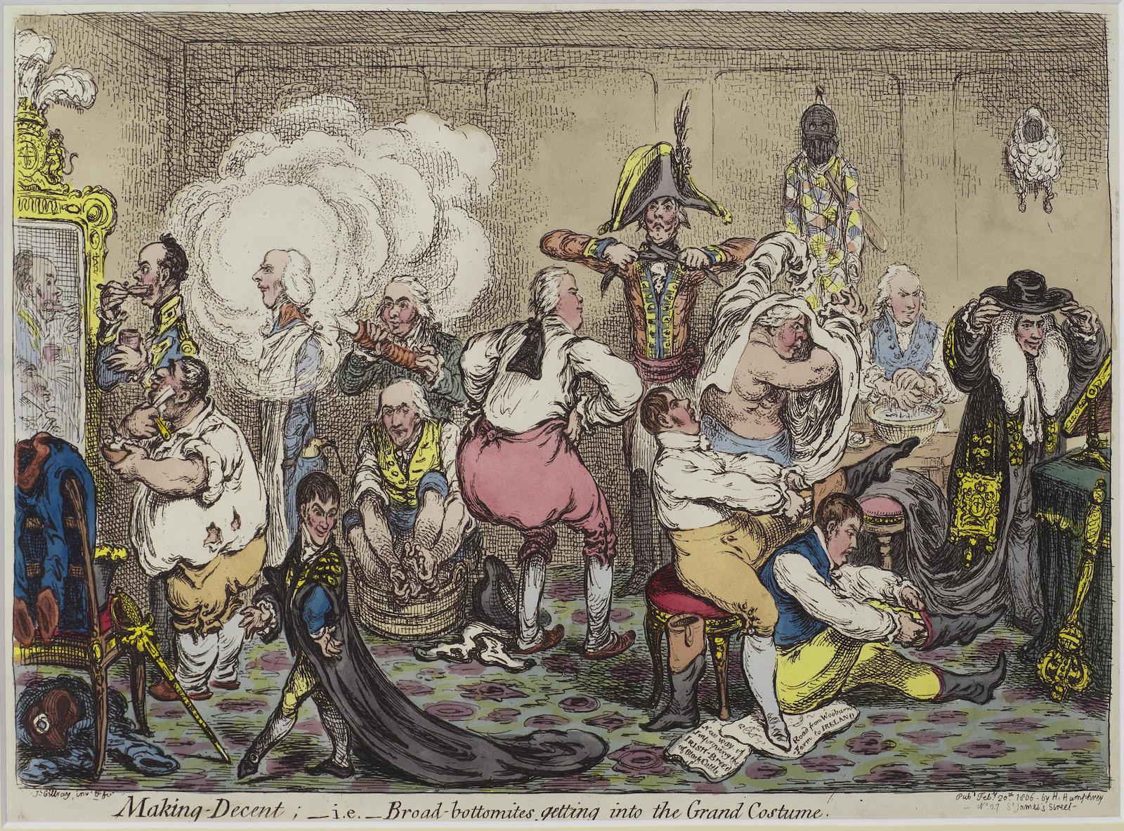 James Gillray-Making Decent-1806