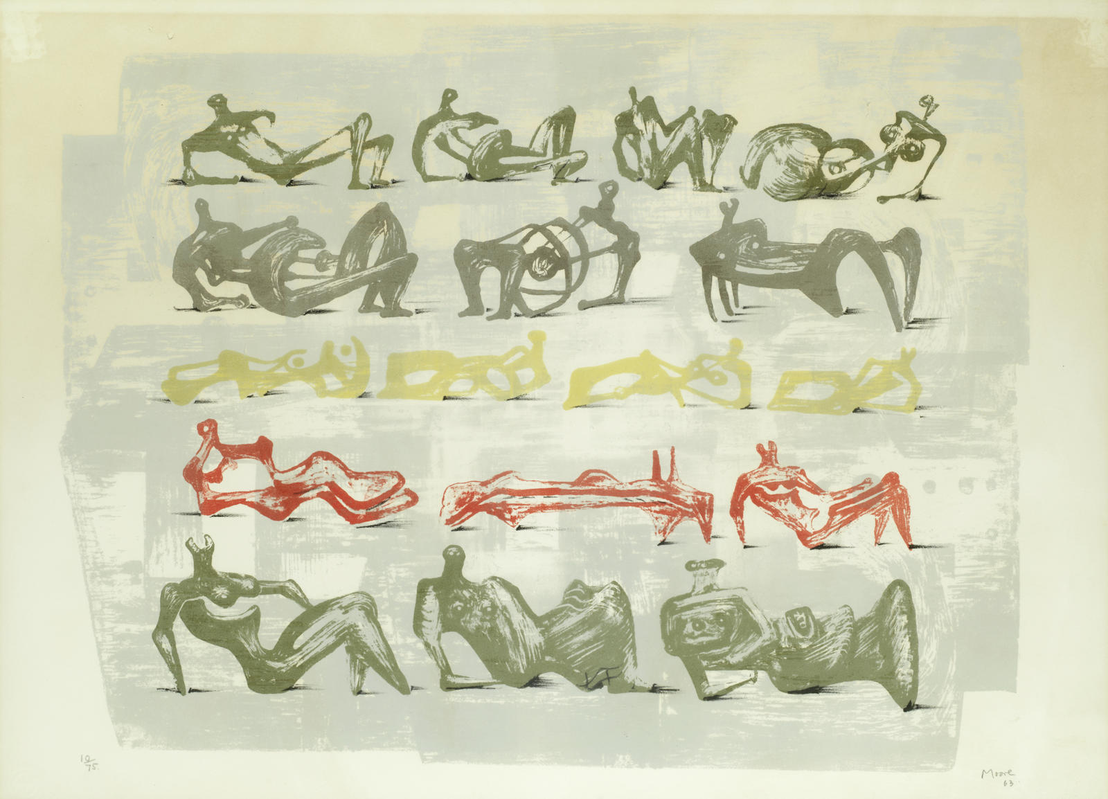 Henry Moore-Reclining Figures (Cramer 47)-1963