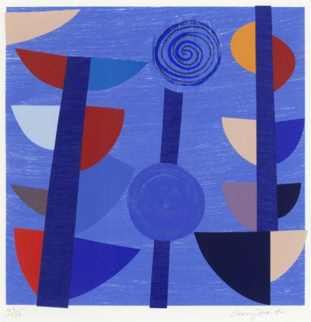 Terry Frost-Tolcarne Moon Blue Newlyn (Kemp 171)-1997